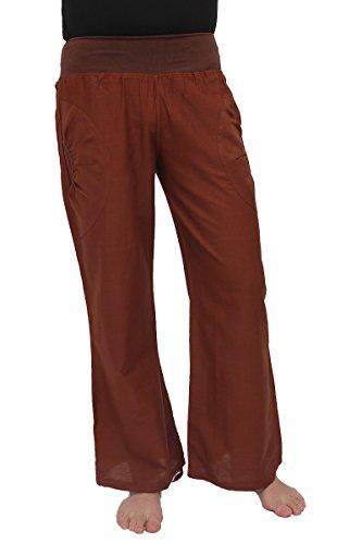 ufash Pantalones de Yoga de algodón, Ropa Deportiva para Hombres, con Cinturilla elástica, S/M, marrón Oscuro 2