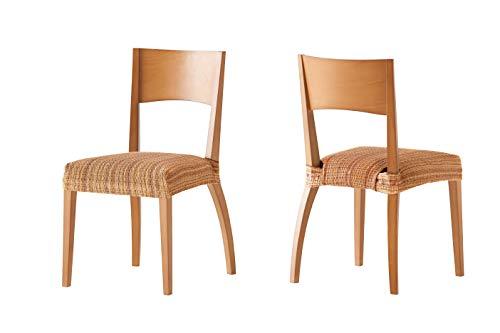 Pack de 2 Fundas de Asiento para silla modelo MEJICO, color DORÉ, medida 40-50 cm ancho.
