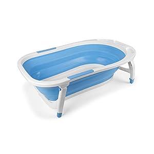 Bañera Bebé Plegable Azul