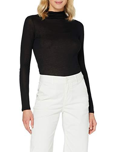 Sisley Sweater L/S T-Shirt, Schwarz 100, L Donna