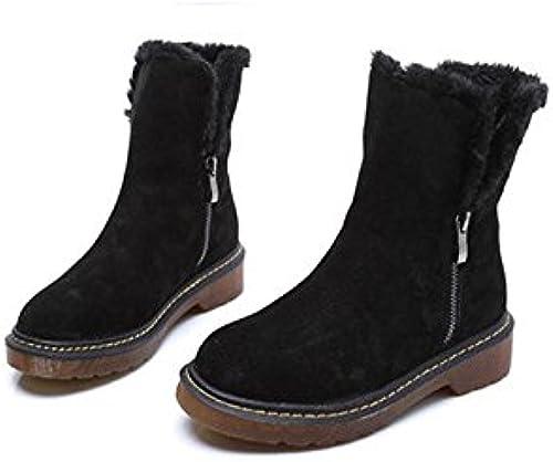 Bottes en coton Retro Retro Retro plat antidérapant Chaussures de sport pour femmes , 43 , noir a9e