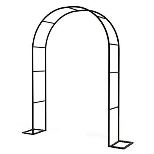 yuanfeng Arco Flores Hierro Forjado Fácil Montar Arco Boda Columpio Personalizable Utilizado para Plantas Trepadoras Decoración Jardín, Interior