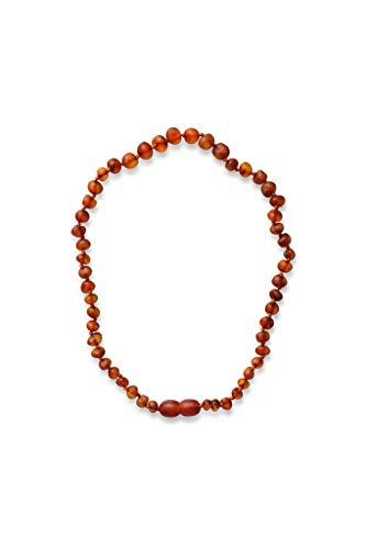 BA4U Collana in Ambra Naturale - lunghezza 32 (Cognac, 32) Collana di ambra grezza