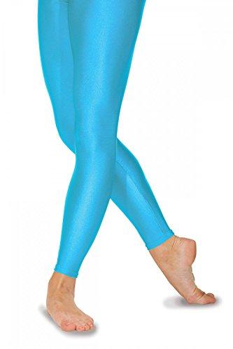 Roch Valley FLST Ballett Strumpfhosen ohne Fußteil aus Lycra Türkis 4 (38)