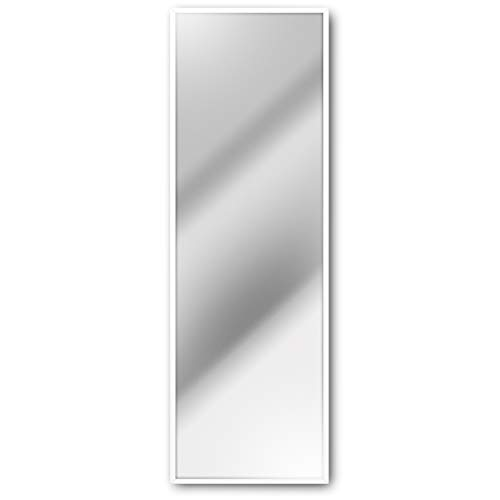 Homestyle Wandspiegel 50 x 150 cm Holzrahmen Weiß Garderobenspiegel Moderner Spiegel