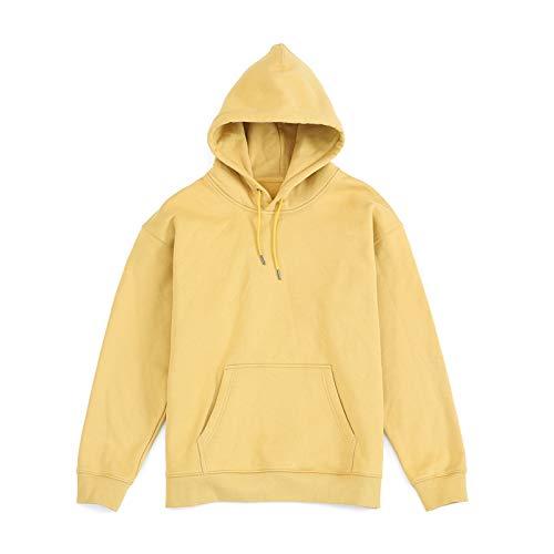 Otoño e Invierno más Terciopelo 13 Colores 400g algodón Pesado Hombres Sueltos Color sólido Chaqueta suéter con Capucha para Hombres