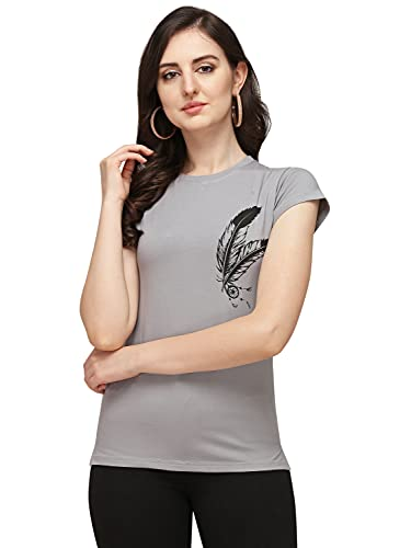 DHRUVI TRENDZ Women Printed Lycra Top with Half Sleeves for...