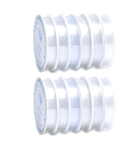 10 Rolls 0.4mm Clear Elastic Crystal Stretch String 10m/roll Craft Bracelet Rope Beads Thread Cord for DIY Necklace Beading Jewelry Making