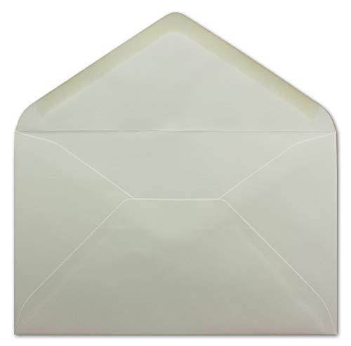 25 DIN B6 Briefumschläge Weiß - 12,5 x 19,5 cm - 90 g/m² Nassklebung - für Einladungen Weihnachtskarten Glückwunschkarten - Umschlag ohne Fenster - Glüxx-Agent