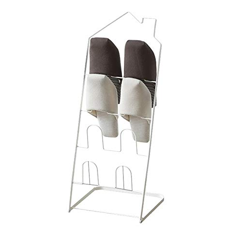 ZAIHW Zapatero Plegable de múltiples Capas para el hogar, Almacenamiento en el Pasillo, Caja de Zapatos de Metal, Hierro a Prueba de Polvo para Pasillo, Sala de Estar