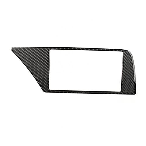 Ming Ming Coche Drive Fibra de Carbono Fibra de Carbono Marco de navegación Frame Decoration Fit for Audi A4 B8 2007 2011 2012 2012 2013 2014-2016