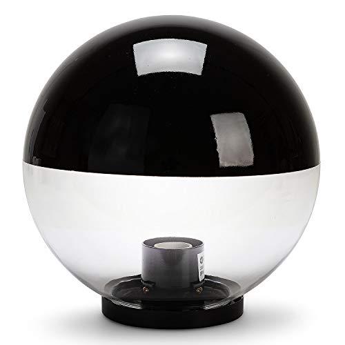 Velamp APOLUX SPH307 Globo, Lampione per Esterno, 300mm, Attacco E27, Compatibile LED, IP44, per Giardino, parchi, condomini. Riduce l'inquinamento Luminoso, Nero
