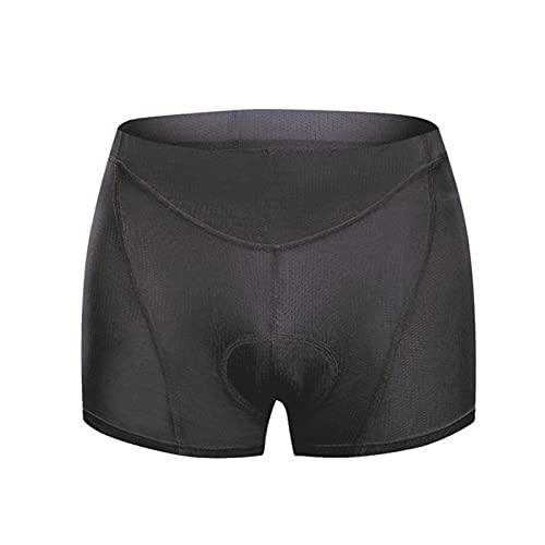 Pantalones Cortos Ciclismo, Ropa Interior Ciclismo Mujer, Pantalones Cortos de Ciclismo de Montaña,Negro,XXL