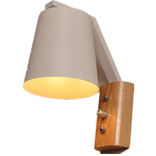 Lámparas de pared simple LED cilindro madera, adecuado para sala de estar TV fondo pared comedor estudio dormitorio porche pasillo