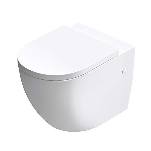 doporro Design-Toilette/Hänge WC Aachen376 mit Silent Close Absenkautomatik