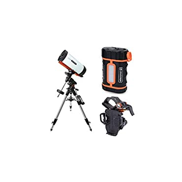 Celestron Advanced VX800 8 (RASA) Telescope with PowerTank Lithium Pro and NeXYZ Smartphone Adapter Package (3 Items)