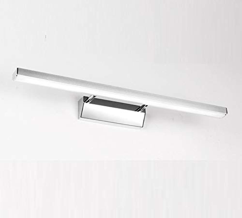 Spiegellampen,LED Spiegelschrank Spiegel Scheinwerfer wasserdicht Anti-Fog-Bad einfache Bad WC Schminktisch Make-up Lampen,40cm,ein weies Licht