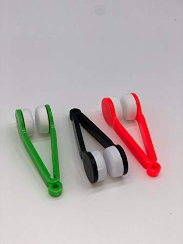 Brillenputzer im 3 er Set, Mircofaser, Optikerqualität, Brillenputzgerät, Fingerlinge