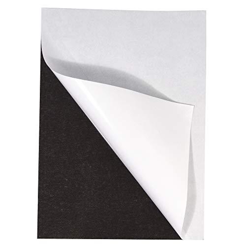 RAYHER 8959400 Magnetfolie, schwarz, selbstklebend, 21x29cm, 2 mm stark, magnetische Klebefolie, Magnete basteln, mit Schere schneidbar