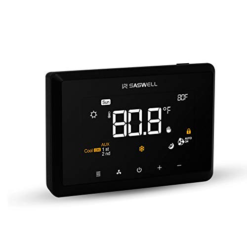 SASWELL T29UTW-7 Touchscreen 7-Day Programmable Thermostat (Contains The Accessories).