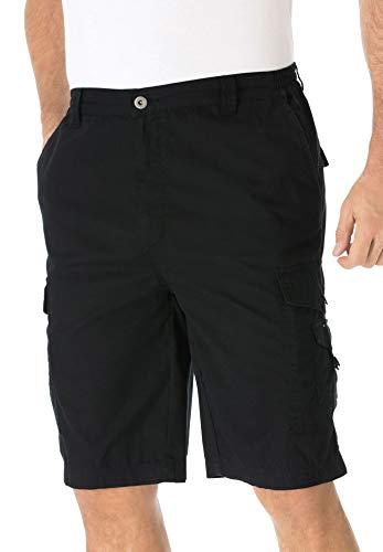 KingSize Men's Big & Tall 10' Canyon Cargo Shorts - Big - 54, Black