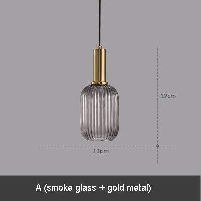 5151BuyWorld hanglamp, glas, geribbeld, modern, rook, cognac, glas, groen, eetkamer, hotel, restaurant, hanglamp, nachtkastje, café, A & A}