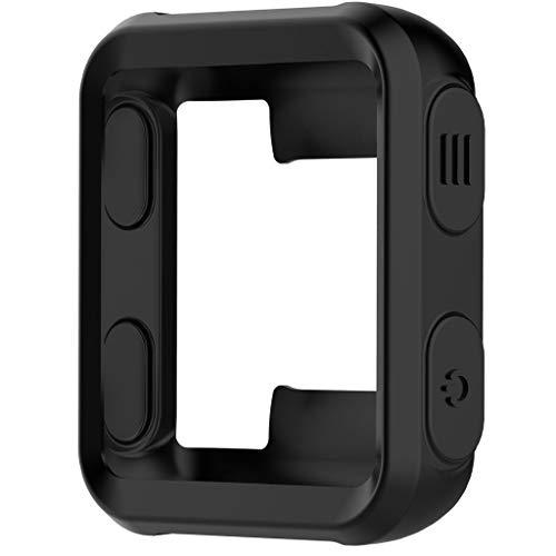 Sport Finess Carcasa para Garmin Forerunner 35, silicona antigolpes, accesorio de reloj de pulsera, protector de pantalla, cubierta de repuesto para Garmin Forerunner 35, color Negro