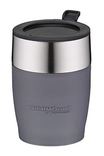 ThermoCafé by THERMOS 4064.235.025 Kaffeetasse DeskCup, Edelstahl Grau 0,25 l, passend unter viele Kaffeevollautomaten, BPA-Free