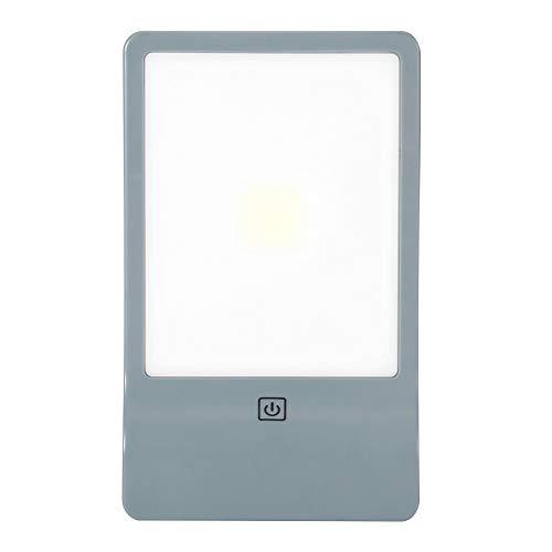 Luz de gabinete gris, plástico ABS Lámpara de cama con cama de cama Luz de armario