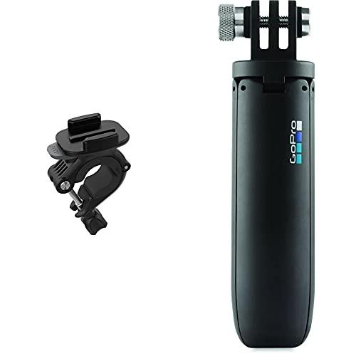 GoPro AGTSM-001 Supporto per Manubrio, Sellino o Asta, Nero & Afttm-001 Mini Treppiede Per Telecamere, Nero