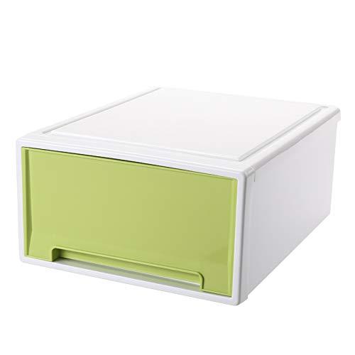 Lade-stijl Kassier Kleding Afwerking Doos Kleding Collectie Kast Plastic Locker 8.5L 30.5x22x12.5cm medium 2 verpakkingen Groen (met prijs, kwaliteitsverbintenis)