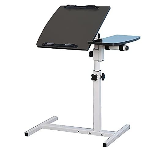 SPZDZ Escritorio/Cama de Laptop de Perezoso Simple con Piso Plegable Simple Mesa de Noche de elevación móvil