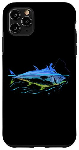 iPhone 11 Pro Max Ocean Fishing Tuna Fish Gift for Angler and Fisher Case