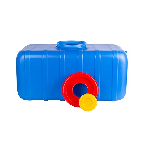 HWhome 25L/45L/75L/110L/155L/200L Multifuncional Portador De Almacenamiento De Agua,Azul Cubos De Plástico De Calidad Alimentaria,Camping Y Senderismo Almacenamiento Contenedor De Agua(Size:45L)