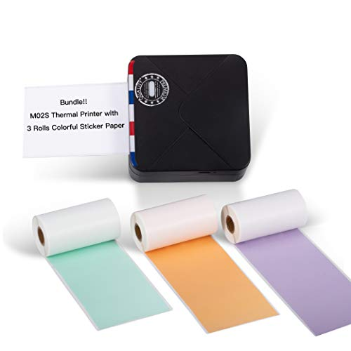 Great Price! Phomemo M02S Pocket Thermal Printer- Bluetooth Photo Printer with 3 Rolls Colorful Stic...