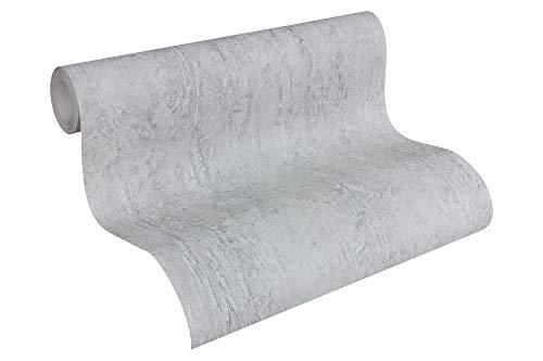 *A.S. Création Vliestapete Beton Concrete & More Tapete in Vintage Beton Optik 10,05 m x 0,53 m grau Made in Germany 306694 30669-4*