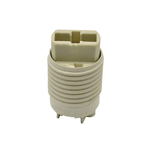 G9 Halogenlampen-Fassung mit rückseitigem Steckanschluß und Isolierhaube anschraubbar 230V naturfarben