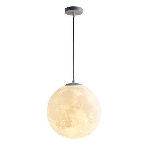 XCY Luna Colgante Lámpara 3D Impresión Luna Bola Redonda Colgando Luz Moderno Araña Lámpara Iluminación Colgando Luna Lámpara Dormitorio Comedor Bar Baño Habitación Balcón Creativo,D 20Cm
