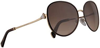 Bvlgari BV6106 B Sunglasses Pale Gold Brown w Brown Gradient 59mm Lens 27813 BV6106B 6106B BV product image