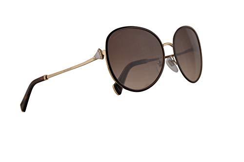 Bulgari BV6106B gafas de sol w/Brown Gradient 59mm Lente 27813 BV6106B 6106B 6106B BV mujer Oro pálido Brown Grande