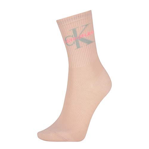 Calvin Klein Socks Womens Jeans Logo Women's Short (1 Pack) Socks, Rose dust, ONE Size