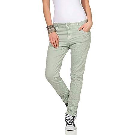 KAROSTAR Chino Damen Jeans Baggy Hose Mint
