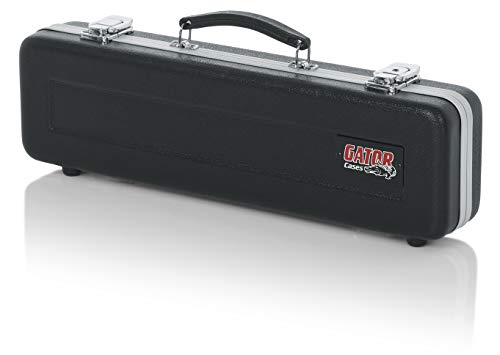 Gator Cases Lightweight Molded Flute Case with Locking Latch and Plush Lined Interior; B and C Foot Fit, Stackable (GC-FLUTE-B/C)