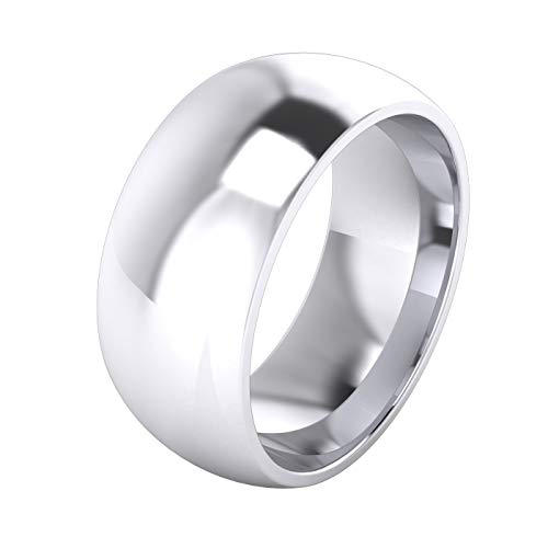 Mens Sterling Silver 9mm Super Heavy Court Shape Polished Wedding Ring (Z)