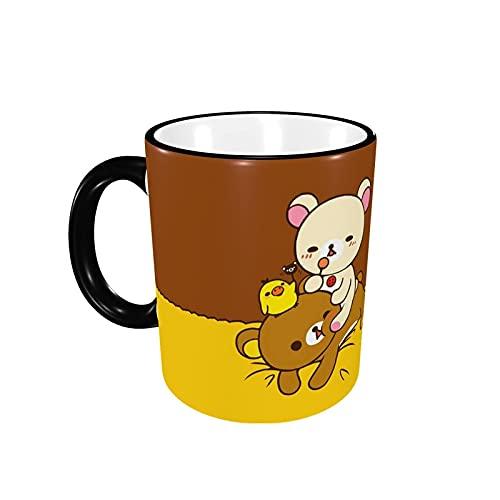 リラックマ マグカップ コーヒーマグ コーヒーカップ 陶器カップ.マグ 電子レンジ対応 330ML 耐熱マグ 耐高温 耐冷 食器 大容量 陶器 軽量 かわいい おしゃれ 人気 アニメ グッズ 雑貨 子ども 男女兼用 キャラクター 贈り物