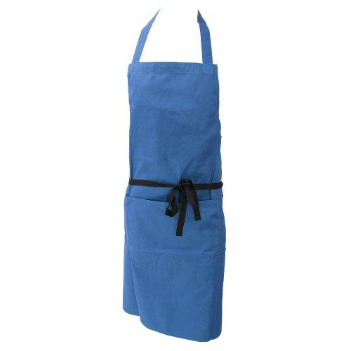 Dennys Damen/Frauen Polycotton Küchenschürze mit Tasche/Küche Arbeitskleidung (Einheitsgröße) (Saphir)