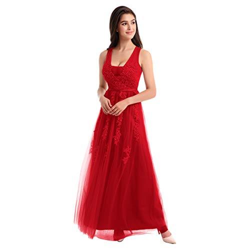 OBEEII Vestido de Fiesta Noche Largo Elegante para Mujer Vestido Fiesta de Boda Cóctel Ceremonia Dama de Honor