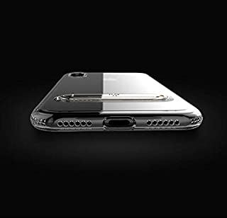 Apple iPhone X Totu Design Kick Stand TPU Back Case Cover - Clear & Silver