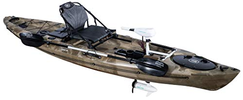 BKC PK12 Angler 12-Foot Sit On Top Solo Fishing Kayak w Trolling Motor (GreenCamo)