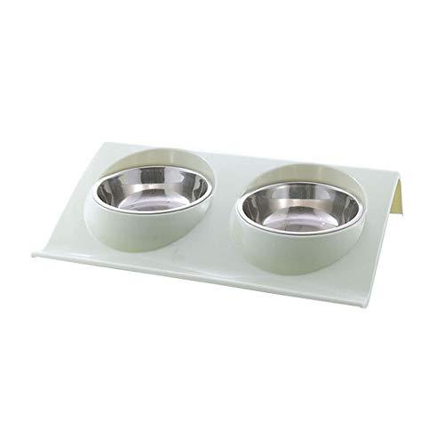 Feli546Bruce Futternapf Doppelnapf Design Edelstahl Hund Katze Welpen Futter Wasser Napf Haustier Zubehör Hund Zubehör